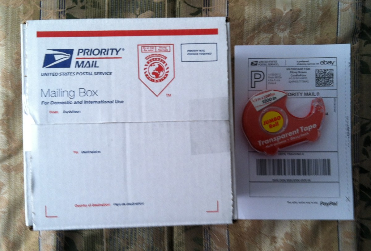 Sealed Box Ready for Mailing Label