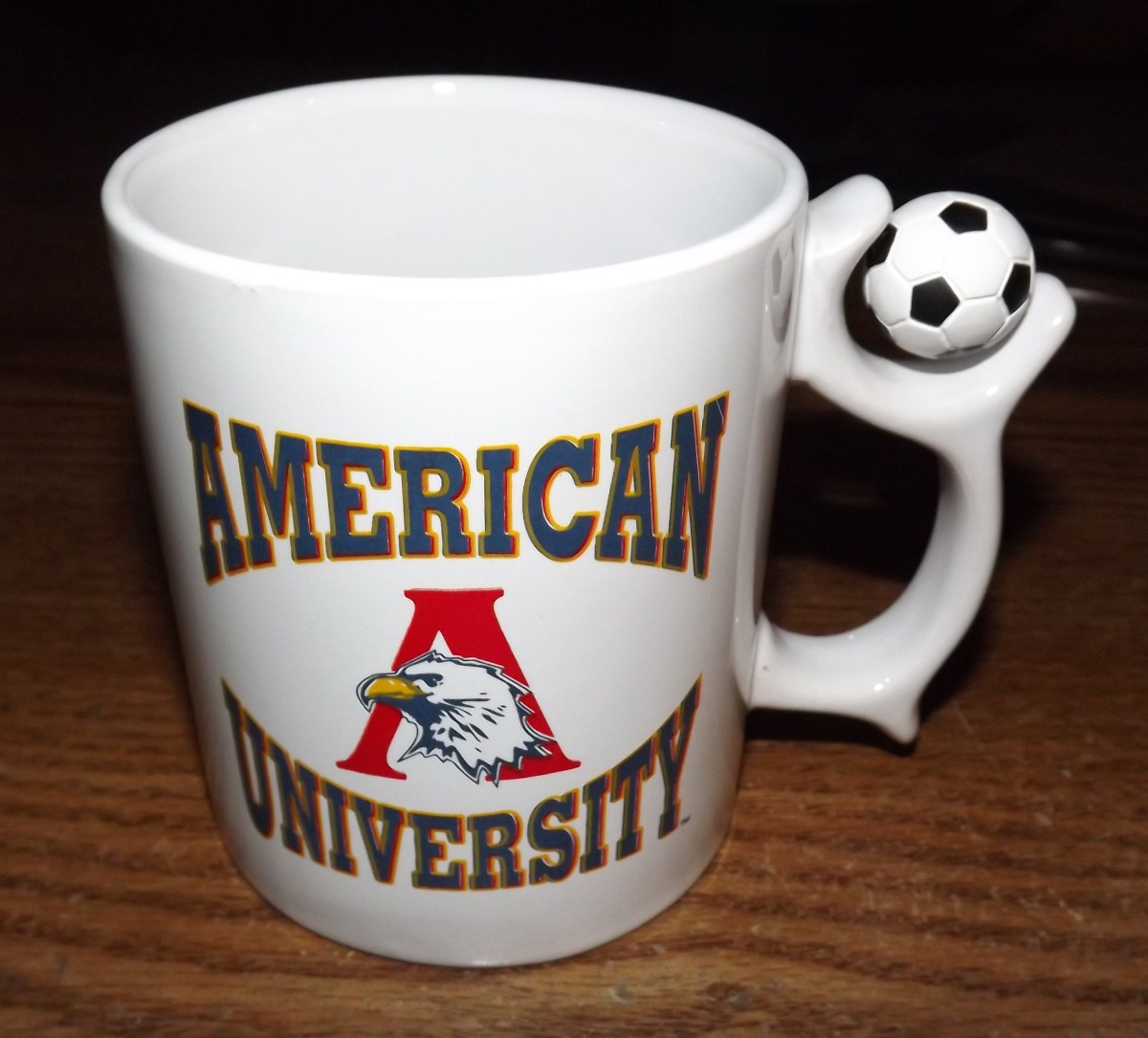 American University Mug with Unique Handle