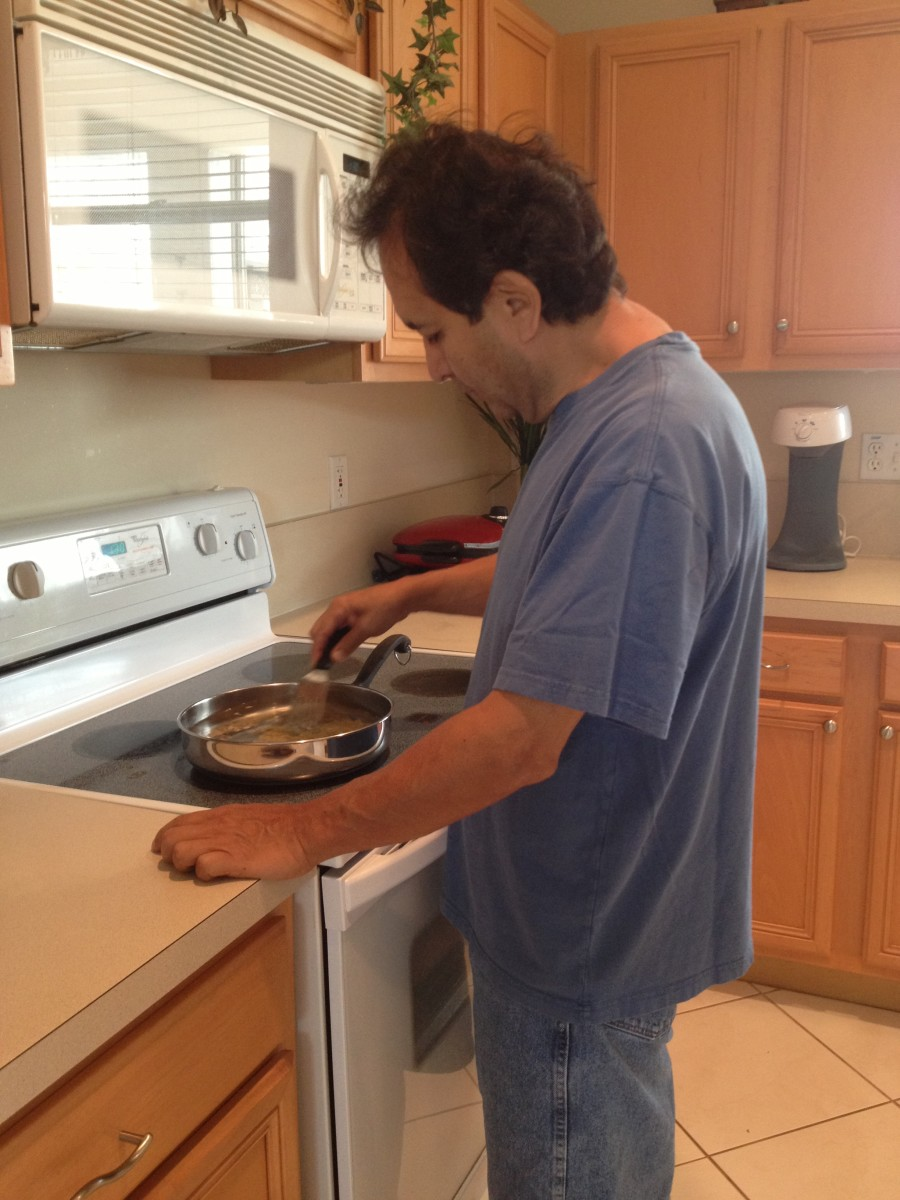 Cooking has always been an area of interest for my husband.  Now that he has the time, he is an excellent chef!
