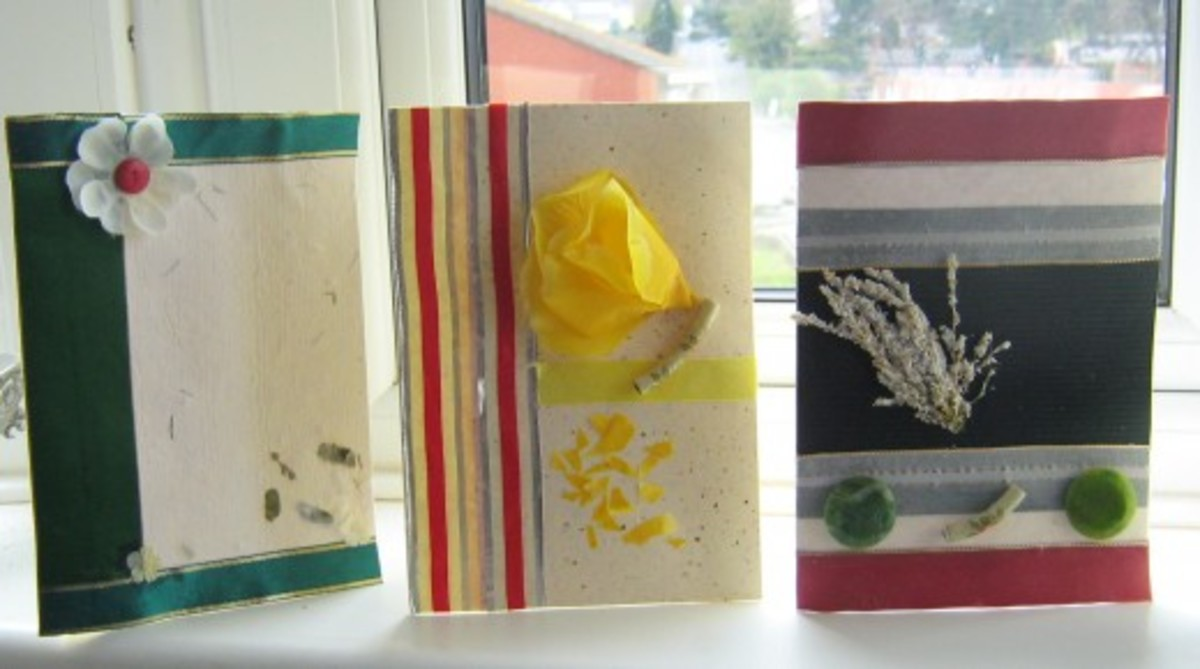Learn how to make greeting cards you can sell to make money at home.