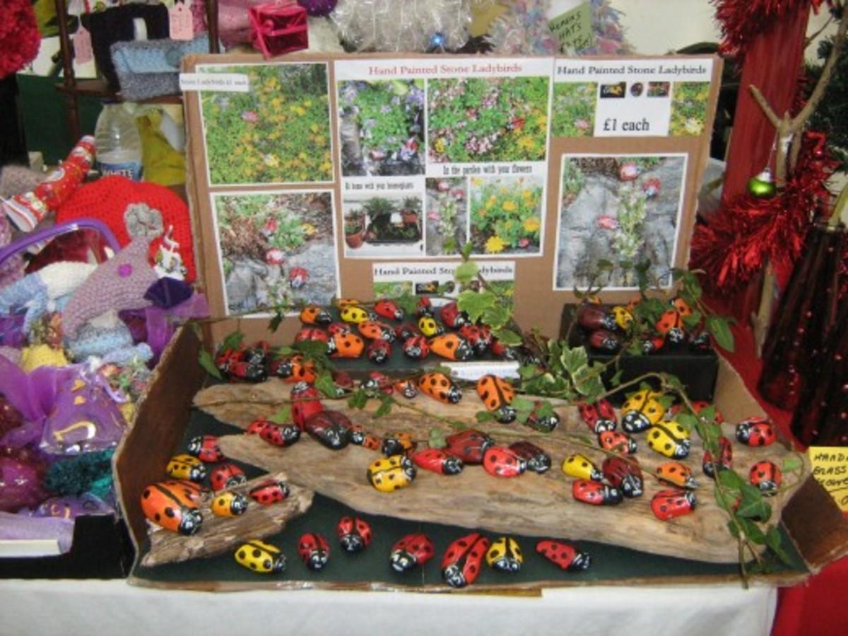 Painted Rocks of Ladybugs