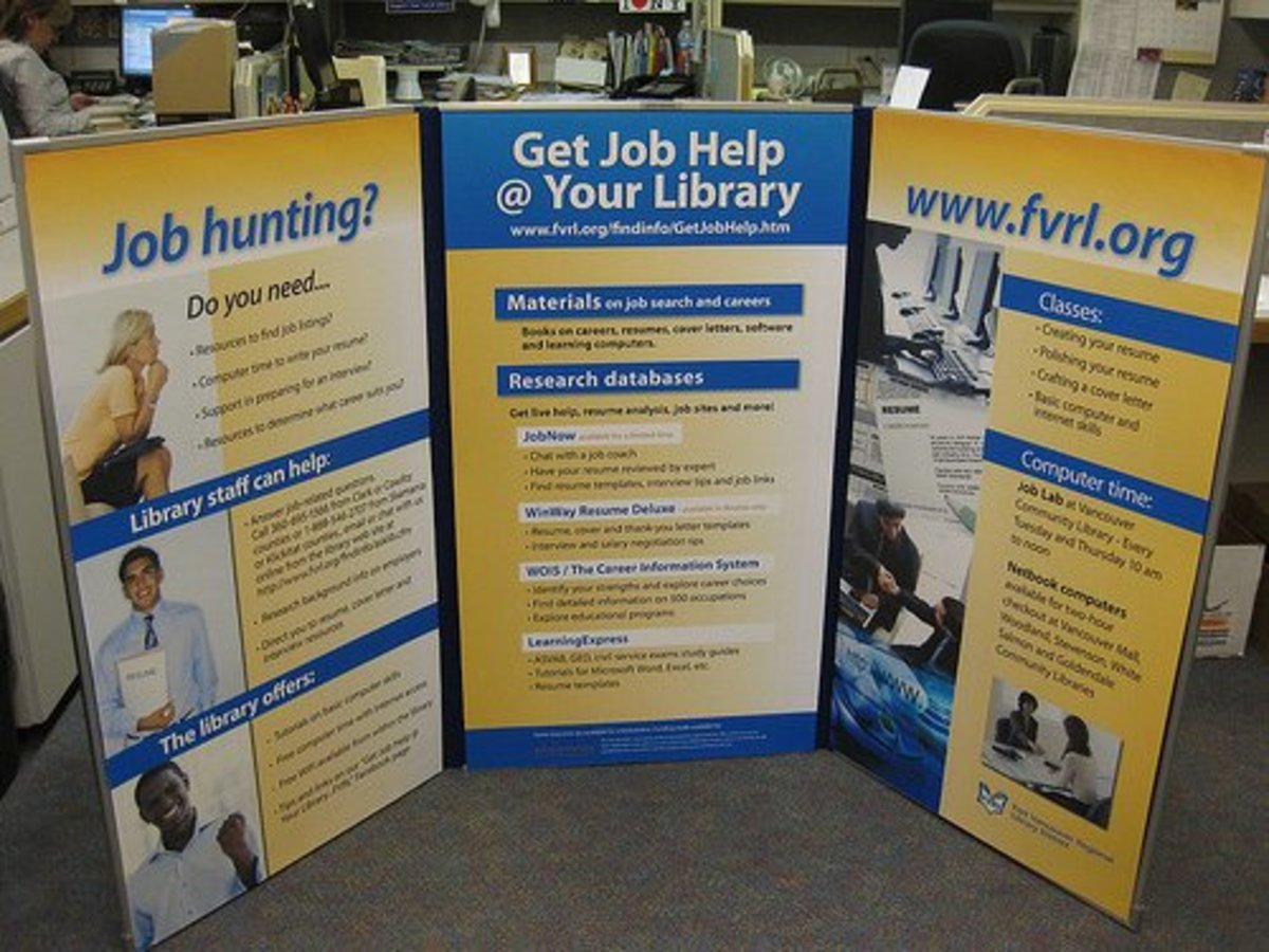 Your local library may have resources available to help you register with job sites, send out applications, create resumés, and complete other tasks that qualify as job searches.