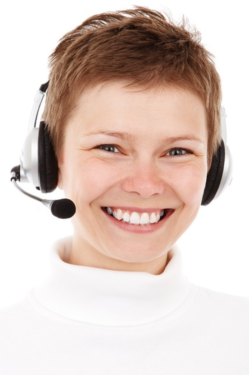 A good smile always lets the customer know they are welcomed.