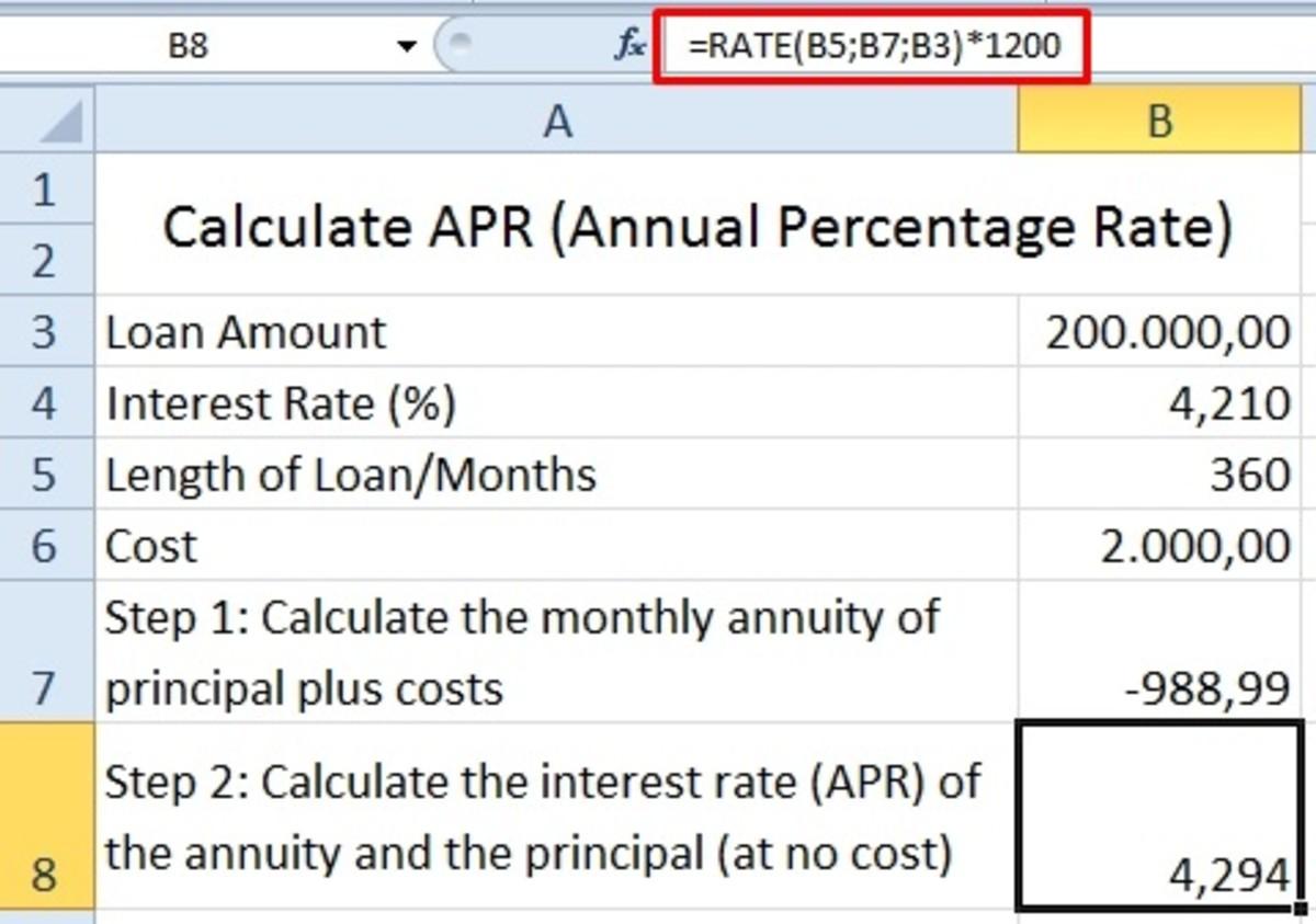 通过年金利率和本金计算的利率(无成本)。