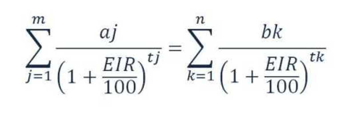 Effective Interest Rate Equation