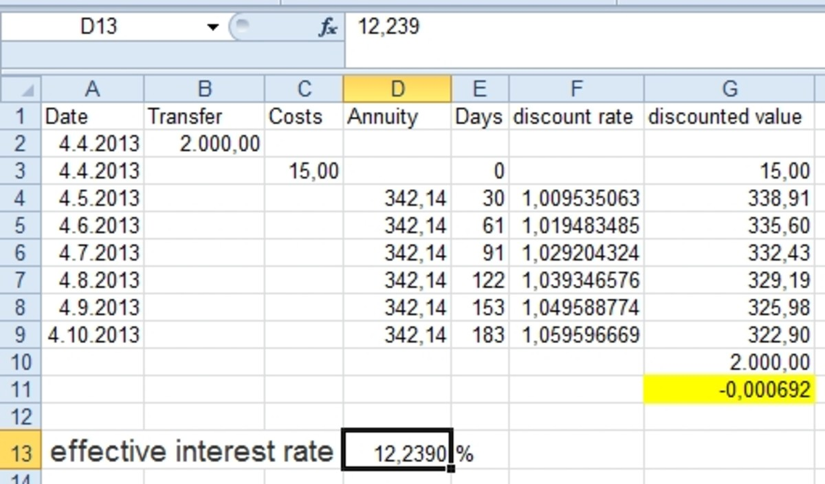 how to calculate effective interest rate using excel