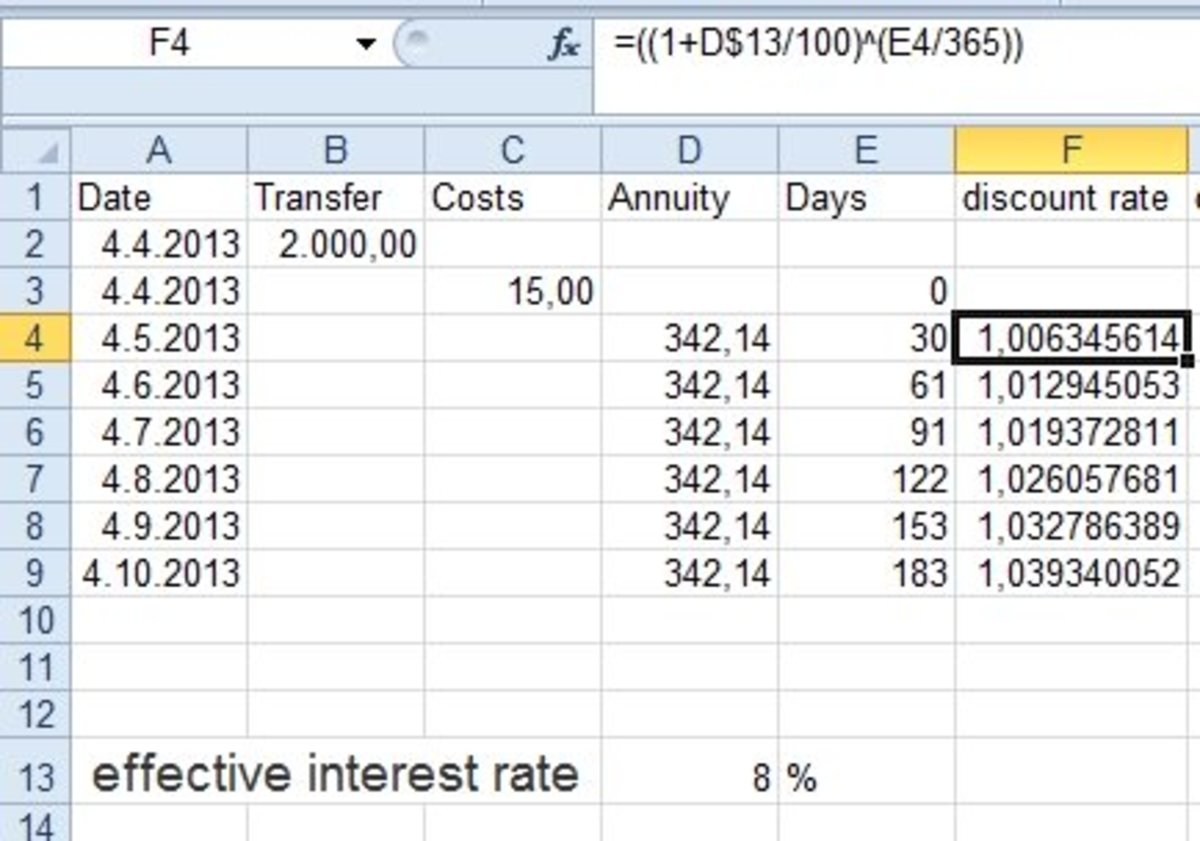 How to Calculate Effective Interest Rate Using Excel | ToughNickel