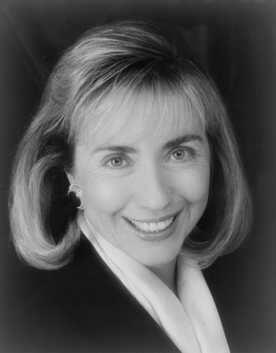 First Lady Hillary Clinton in 1992.