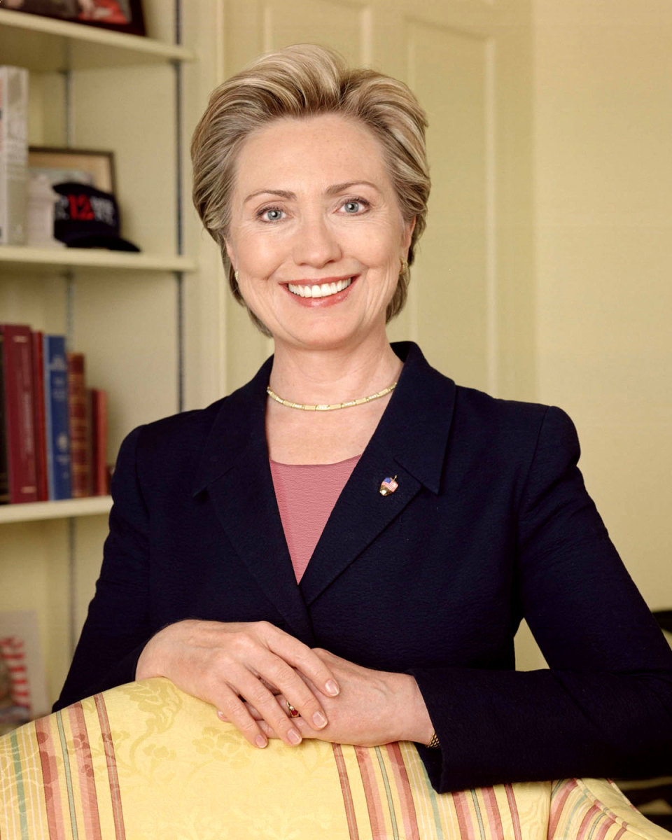 This is Hilary Clinton's official portrait for the US Senate.