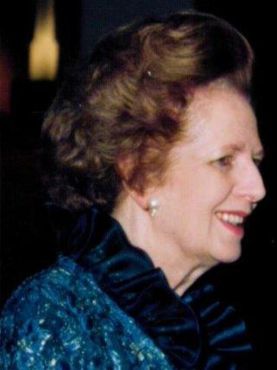 Margaret Thatcher in 1990.