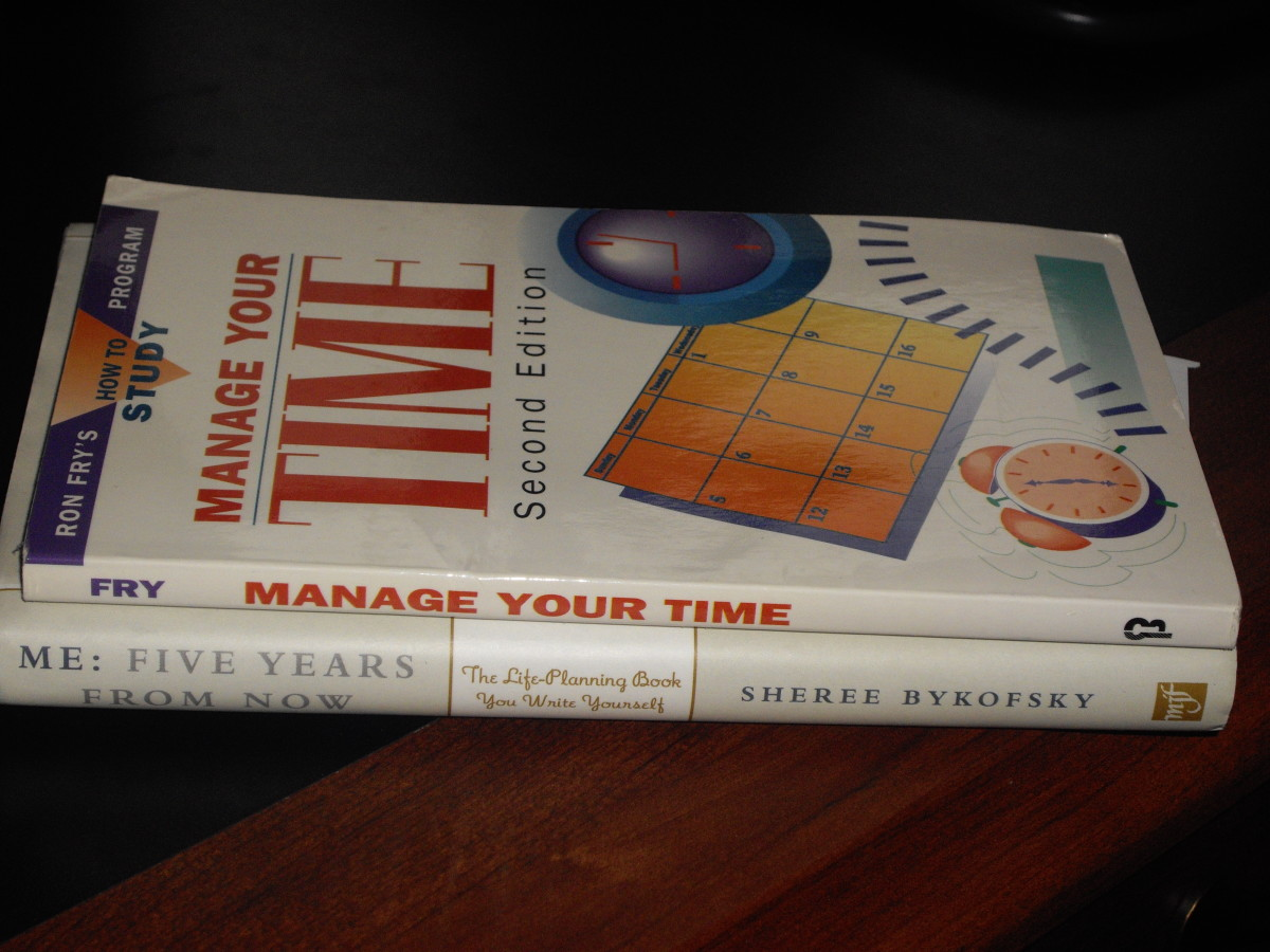 Time management and goal setting are two great topics to read about.