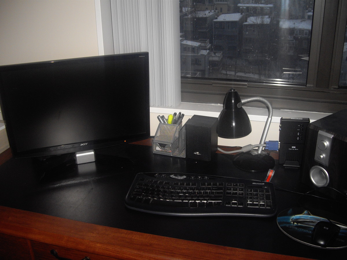 It is easiest to get things done when you have a workspace set up.