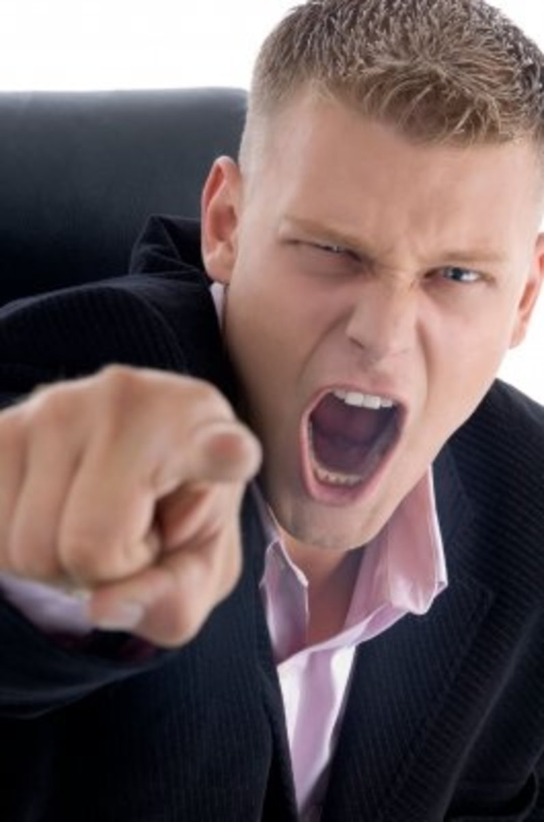 Yelling is a big sign your boss is a bully.