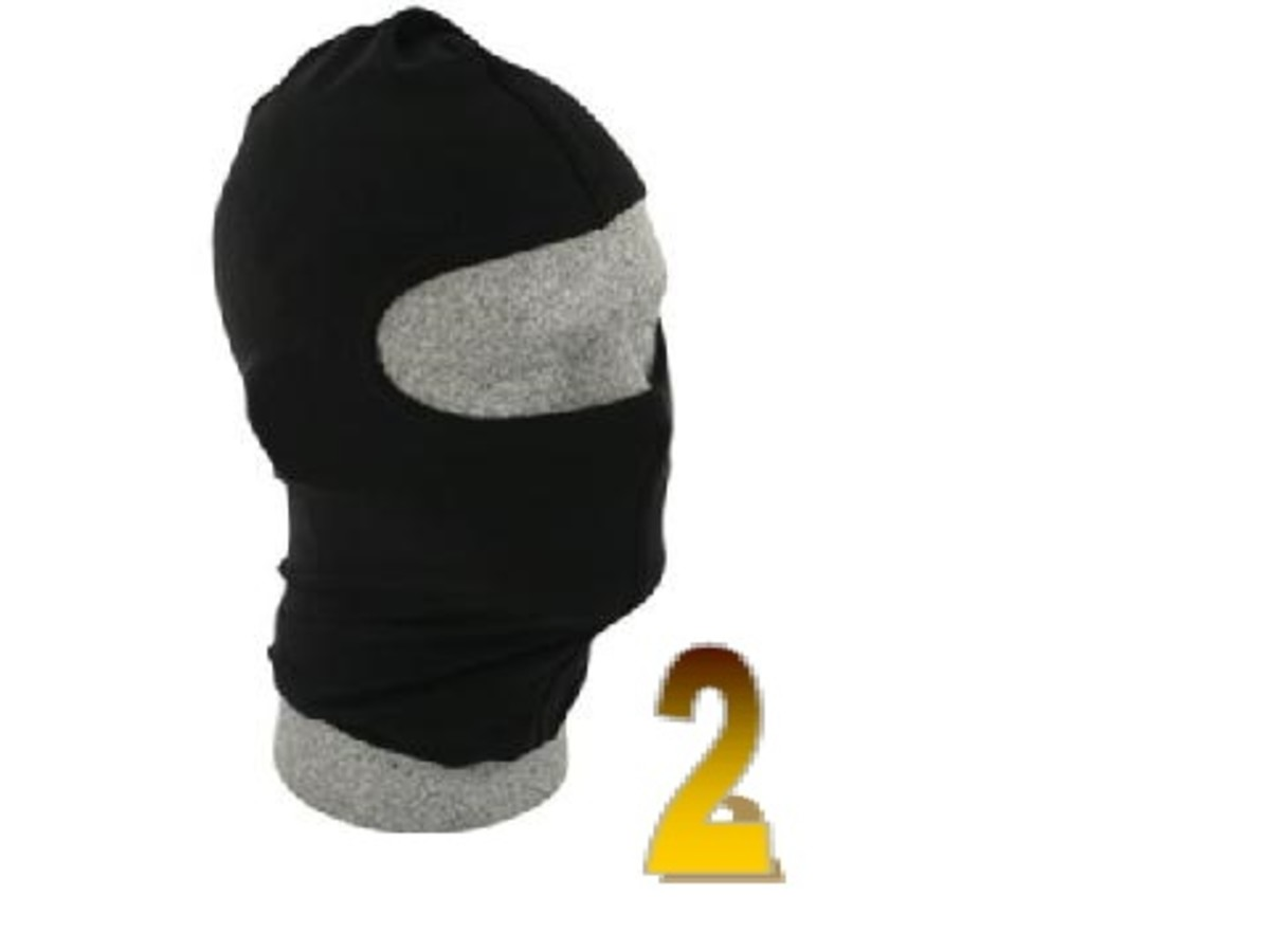 Item 2 - Burglary Mask.  Stealing from your co-workers is facilitated by wearing this fashionable ski mask.