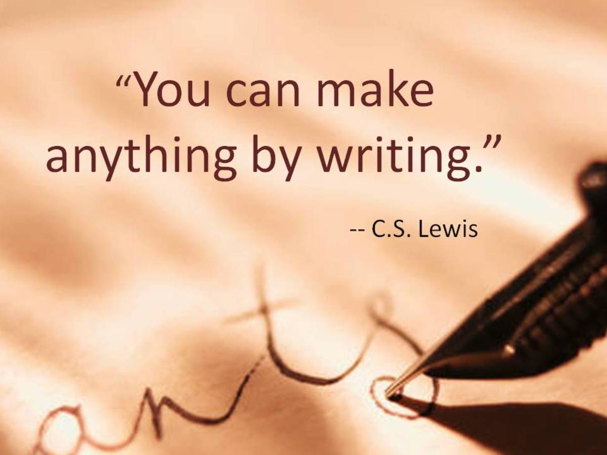 You can make anything by writing, and that includes a good income.