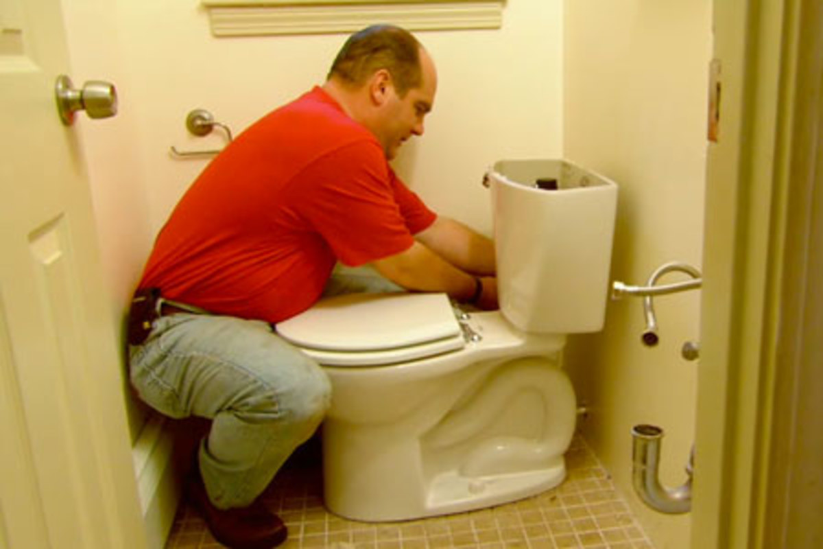 A leaky toilet can waste gallons and gallons of water.