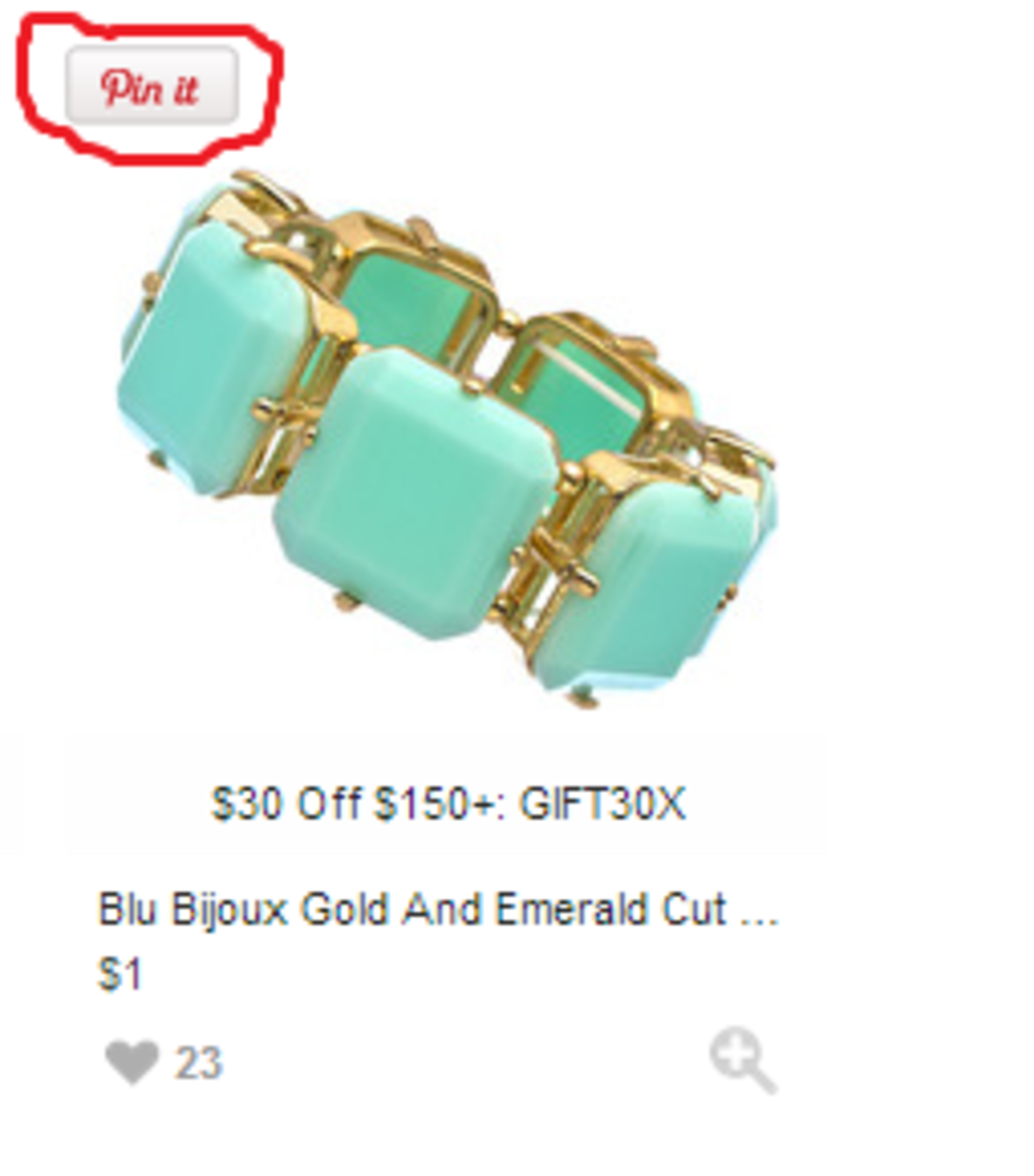 Hover over shopstyle product to find pinterest button!