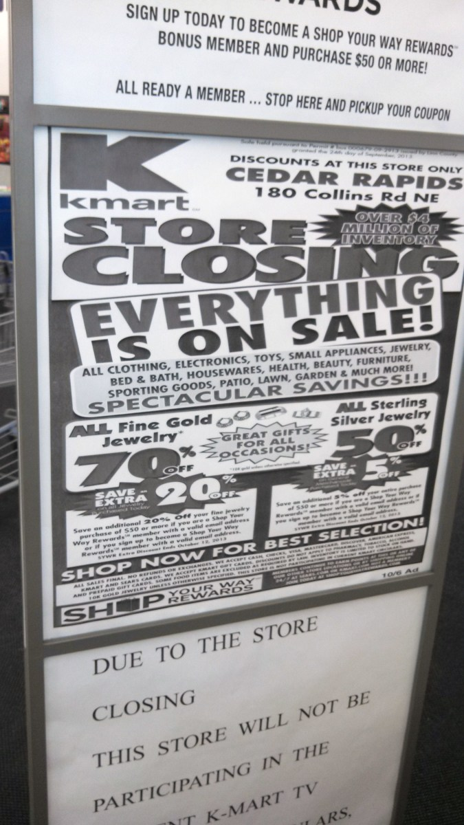 Store Closing Sale Flyer