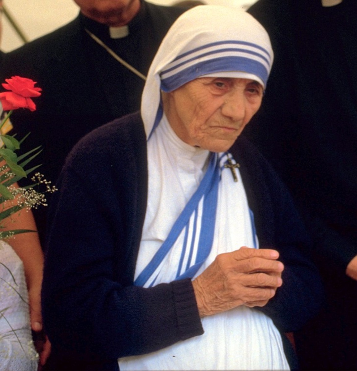 Mother Theresa in Bonn, Germany, 1986