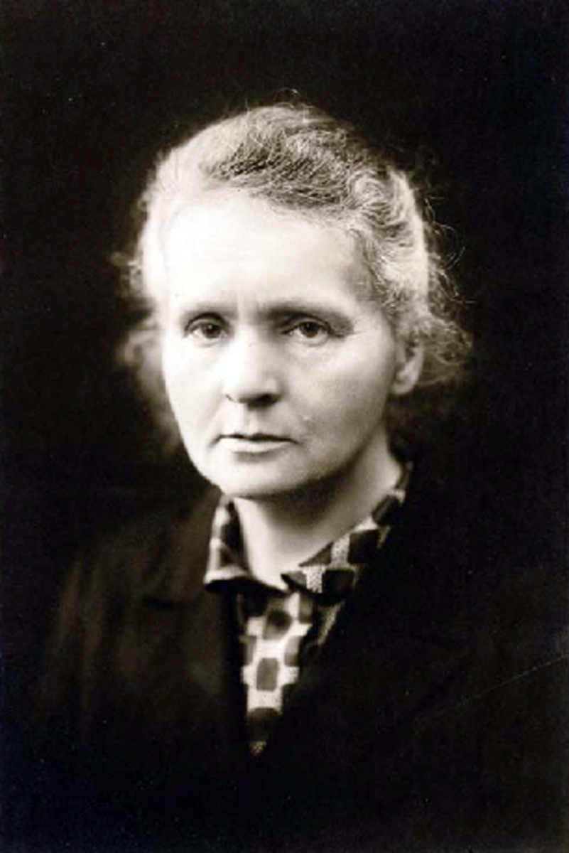 Marie Curie, ca. 1920. I like this image because it shows her determination.