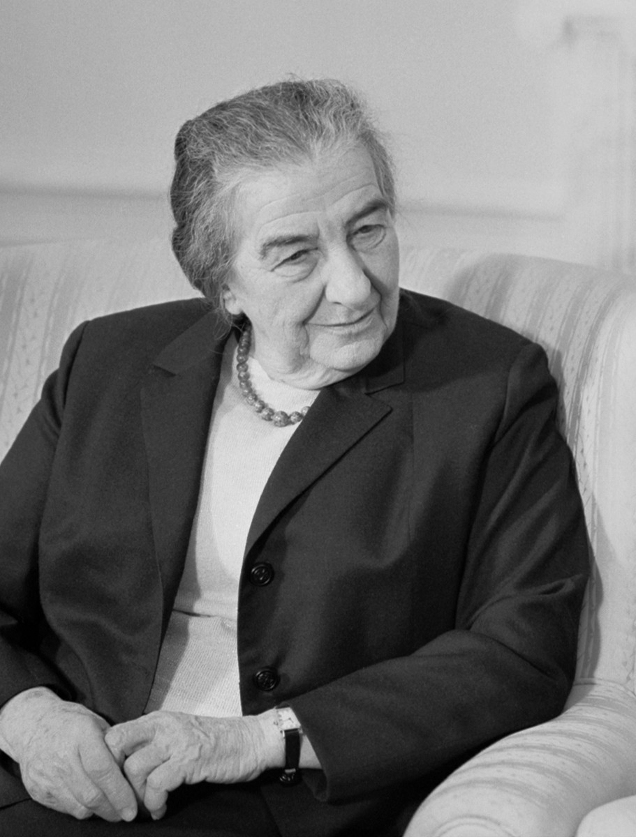 Golda Meir, Israeli Prime Minister, in 1973, at age 74.