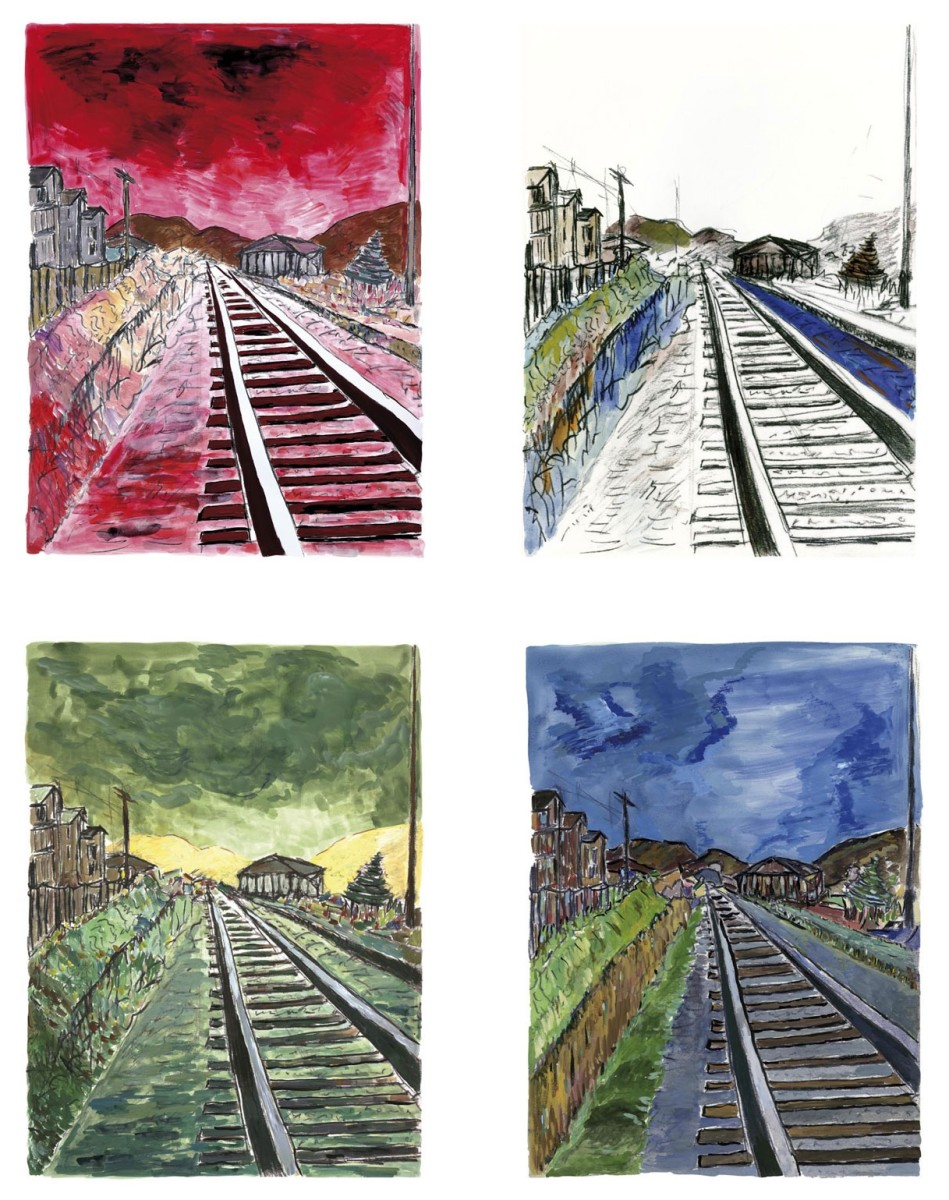 The Train Tracks prints are some of the most popular Bob Dylan art