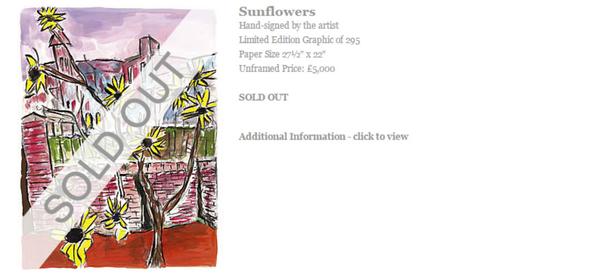 Sunflowers fro 2009 Drawn Blank has now sold out