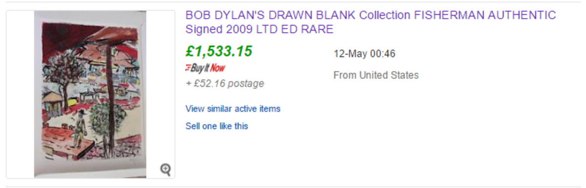 The final eBay sale price of the Fisherman print from the 2009 series