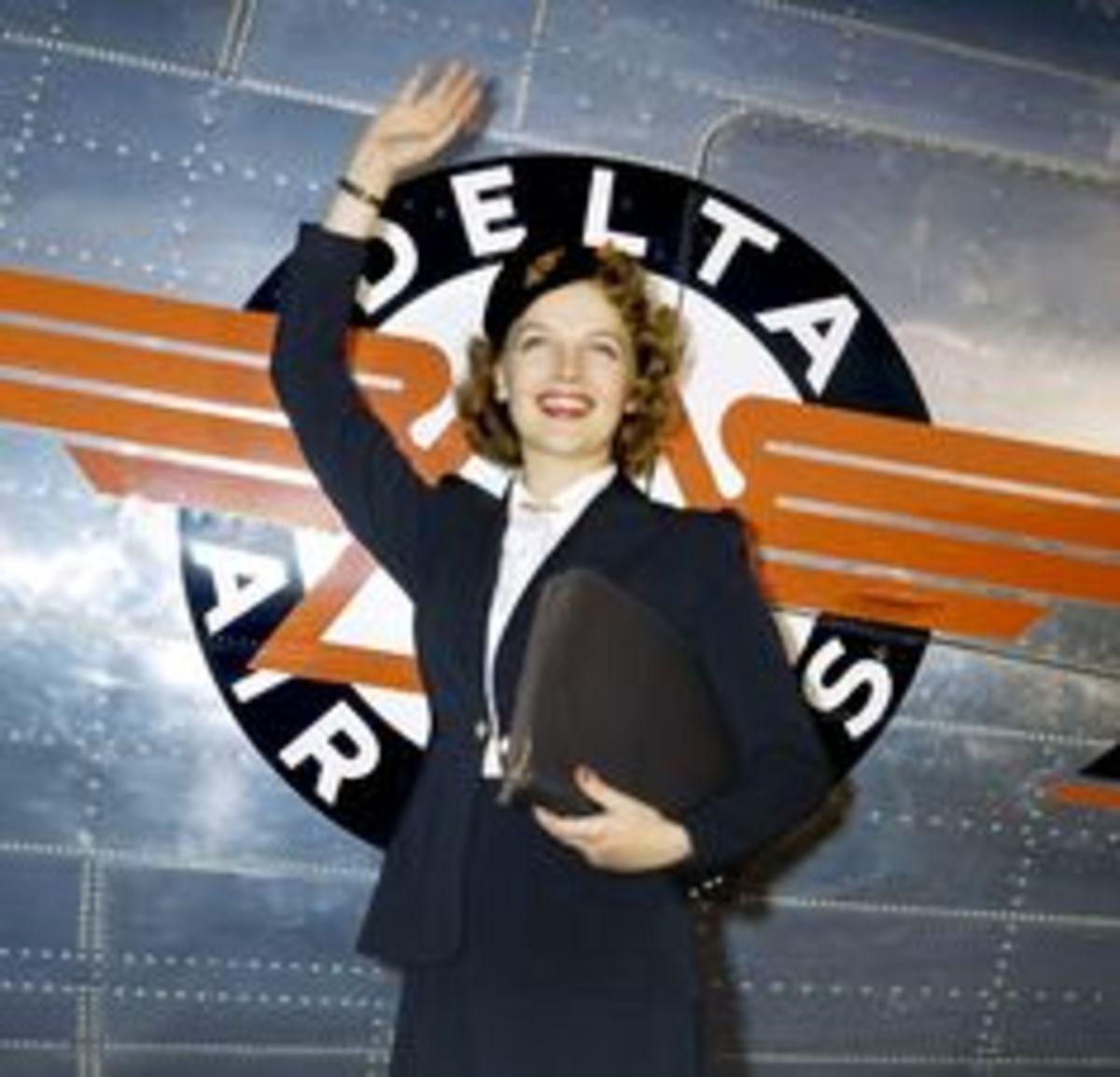 Delta Flight Attendant: Circa 1940's