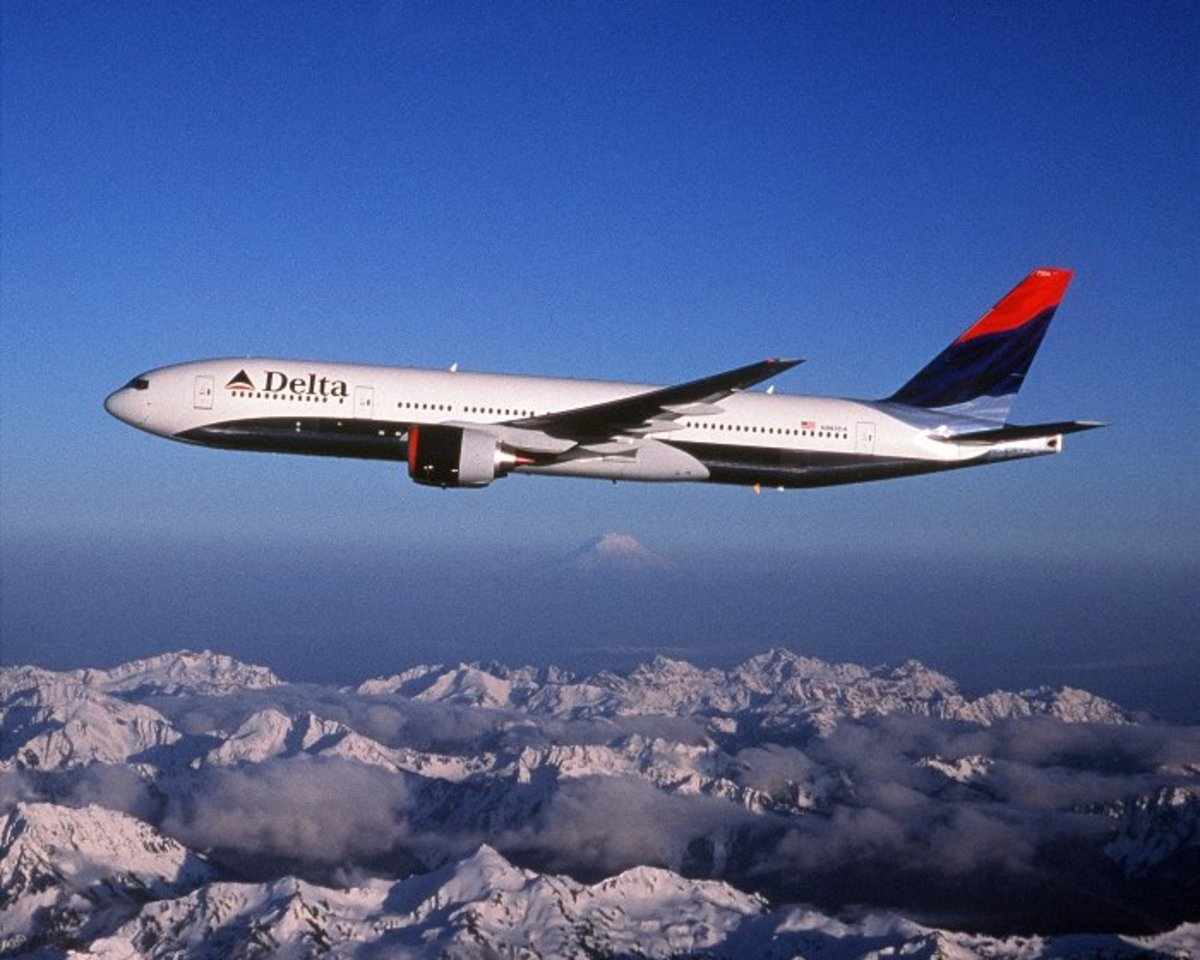 Delta Airlines Aircraft Inflight