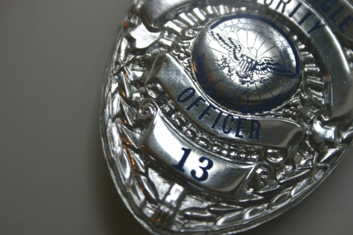 The badge is symbolic of job function, role, and identifies the law enforcement officer as legit.