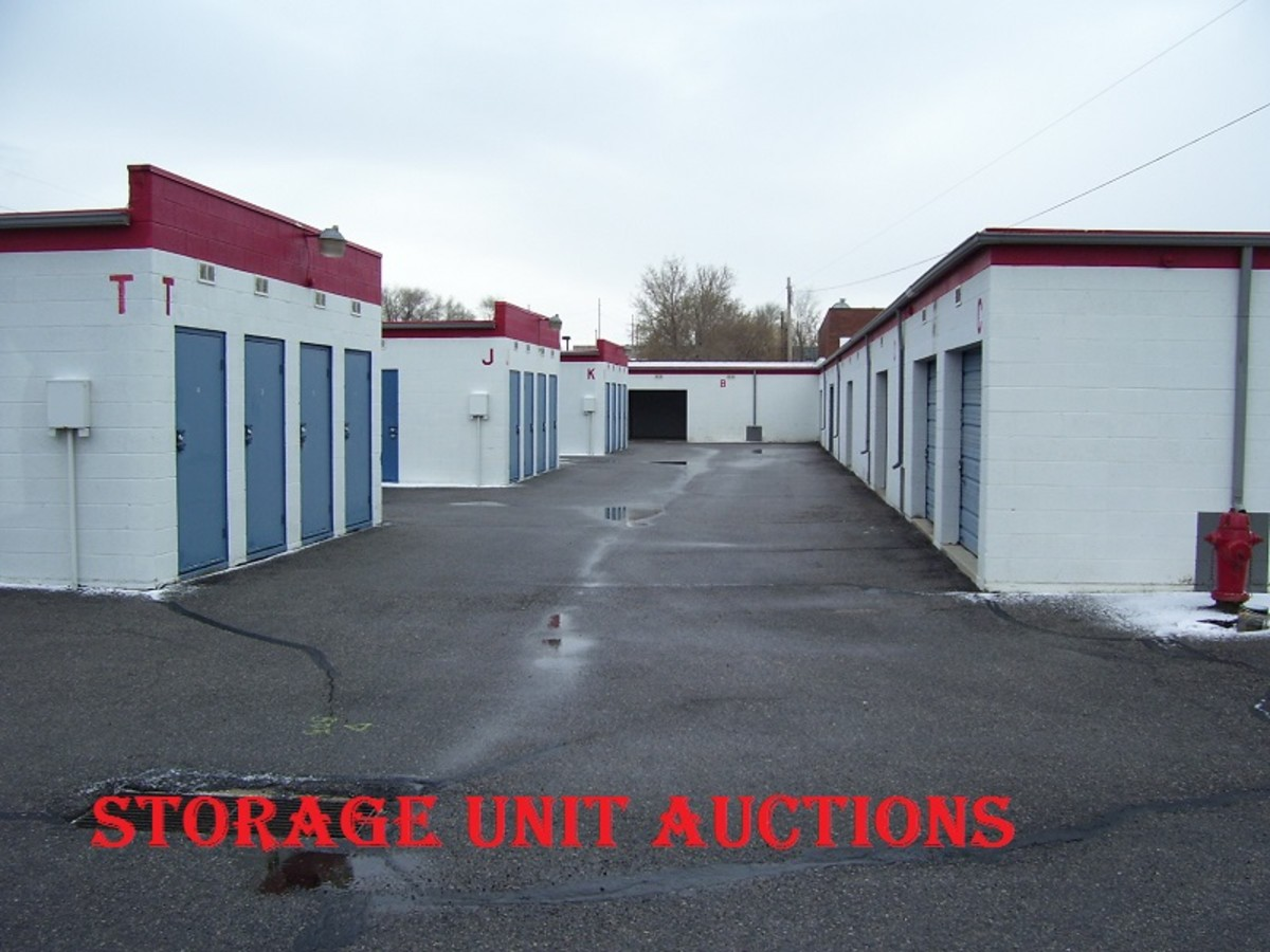 Storage unit auctions are a great way to acquire potentially valuable forgotten objects for cheap.