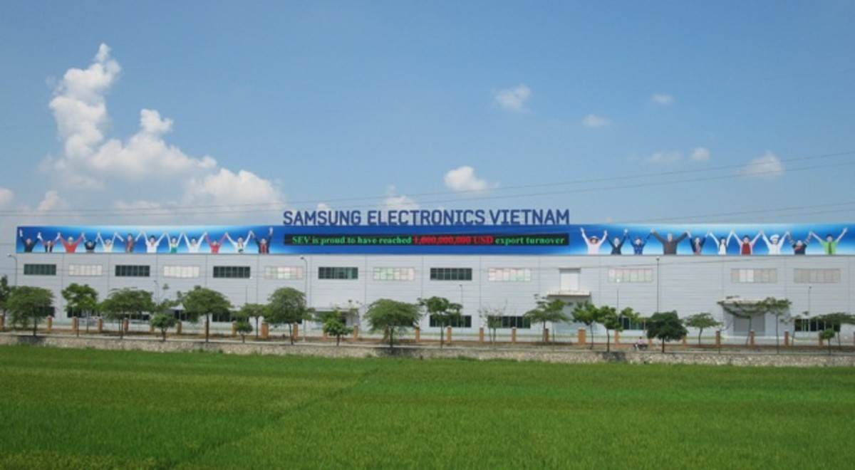 Samsung factory in Bac Ninh, Vietnam