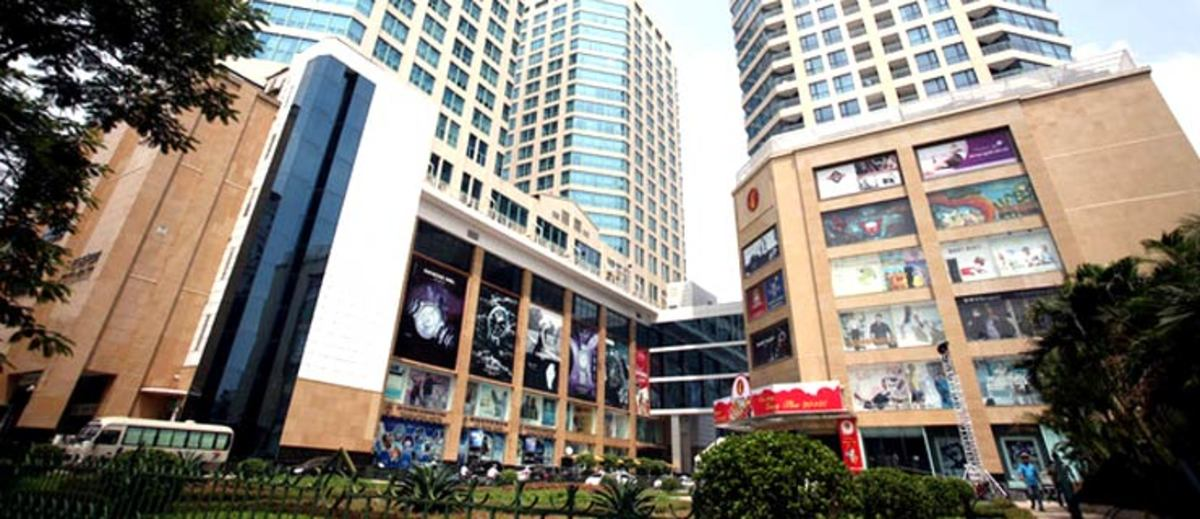 Modern shopping mall in Hanoi, Vietnam