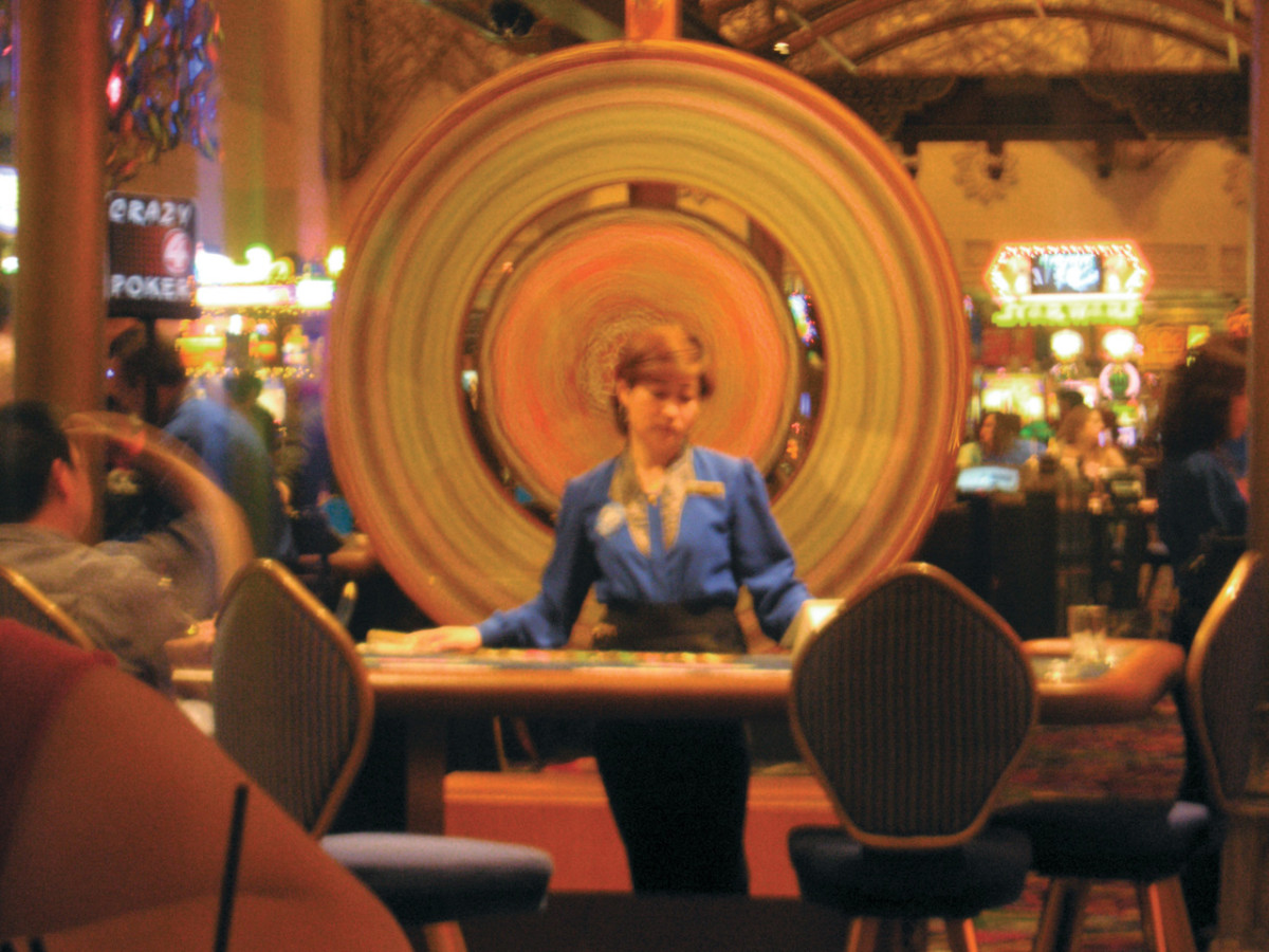 At 4 a.m., work gets awful boring even for a Las Vegas casino worker.