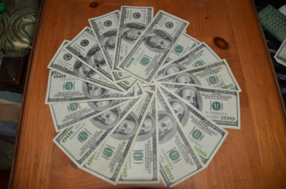 Lower Cox Bill to Save Money—Circle of Dollar Bills