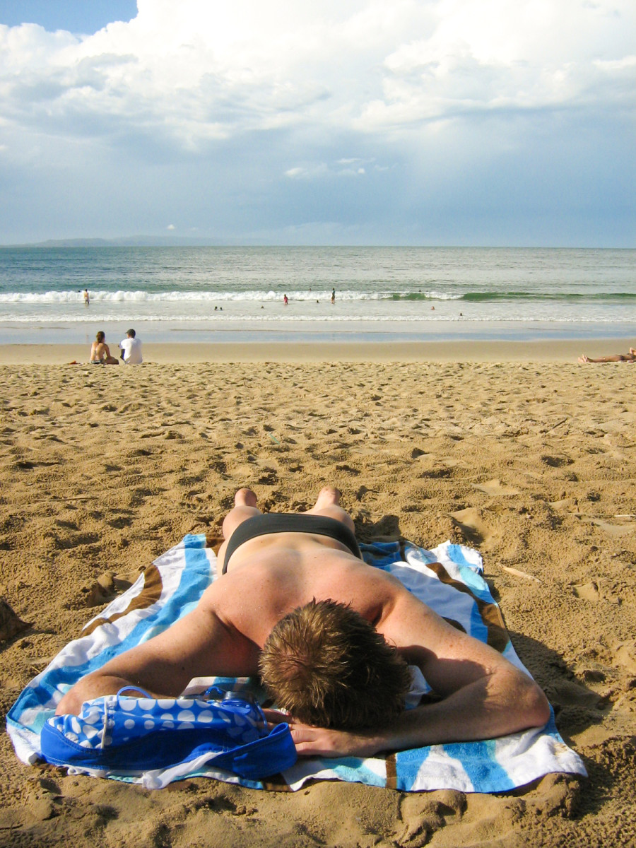 Recover from Christmas day be spending Boxing day lying on the beach.
