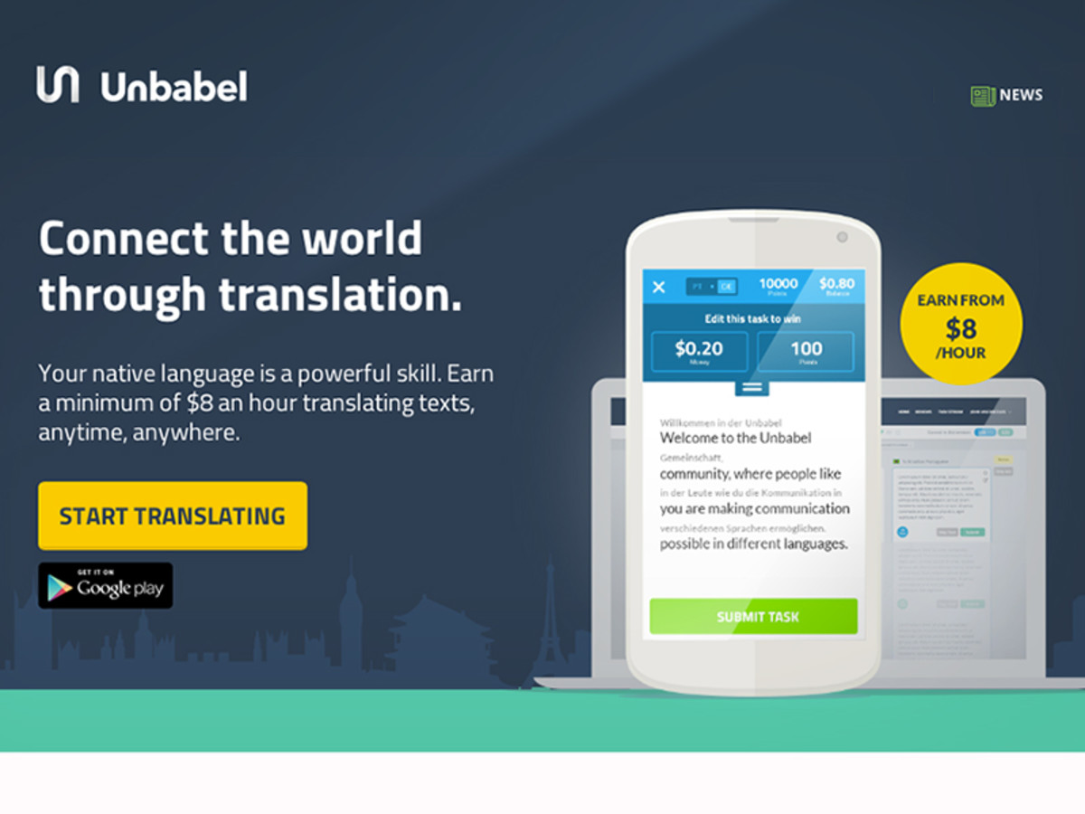 Unbabel home page