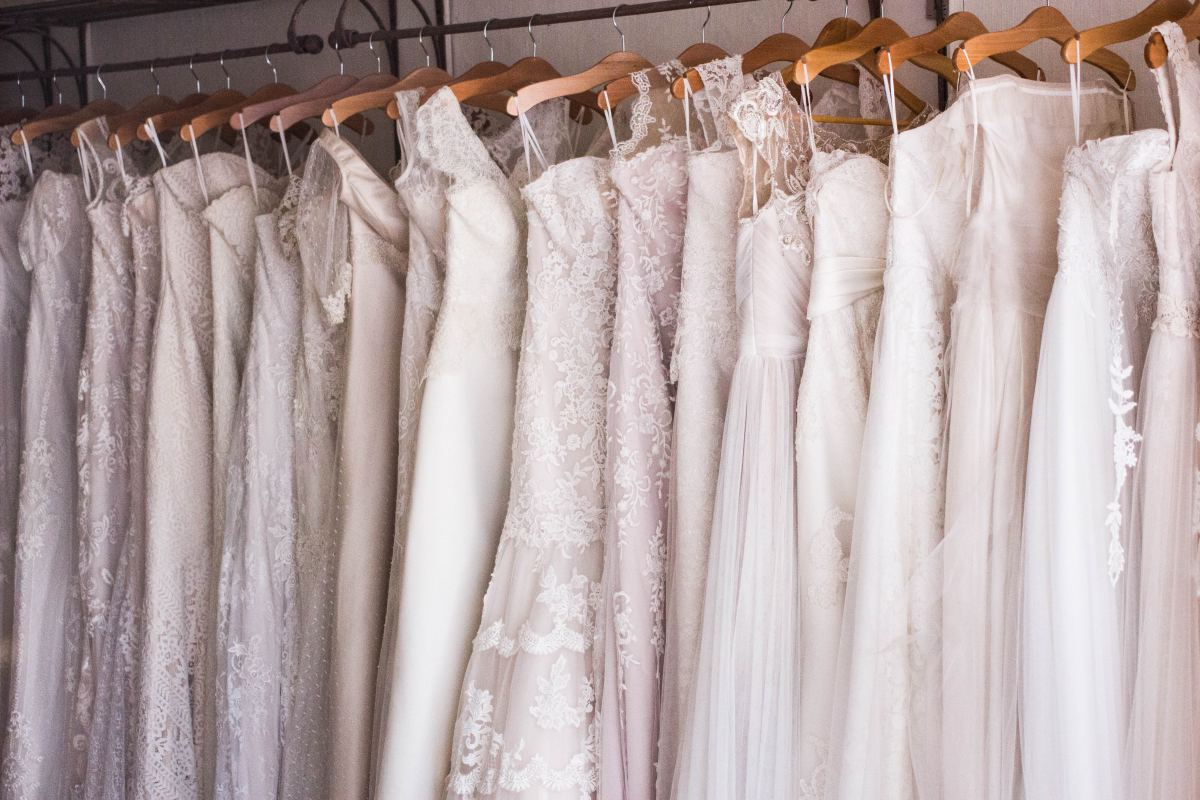 A selection of wedding dresses