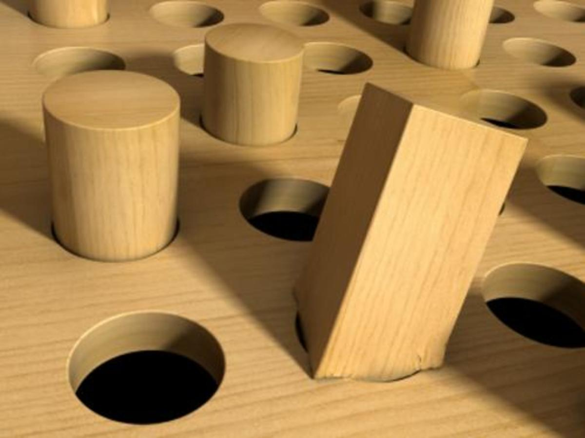 At work, do you feel like a square peg in a round hole?  You may be experiencing poor person-organization fit.
