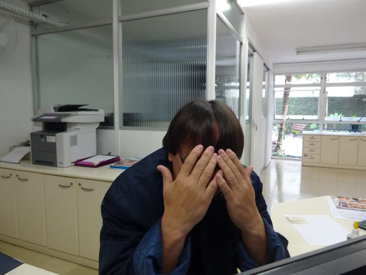 There are appropriate ways to deal with criticism at work. Hiding your face in shame and embarrassment isn't one of them.