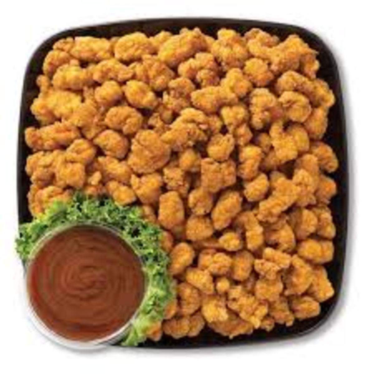 Popcorn chicken platter