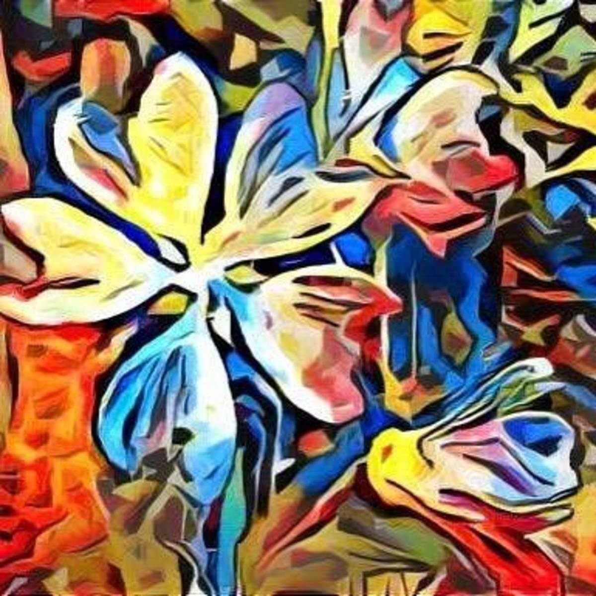 Bloomin' by Original Art by Gina Welds Hulse