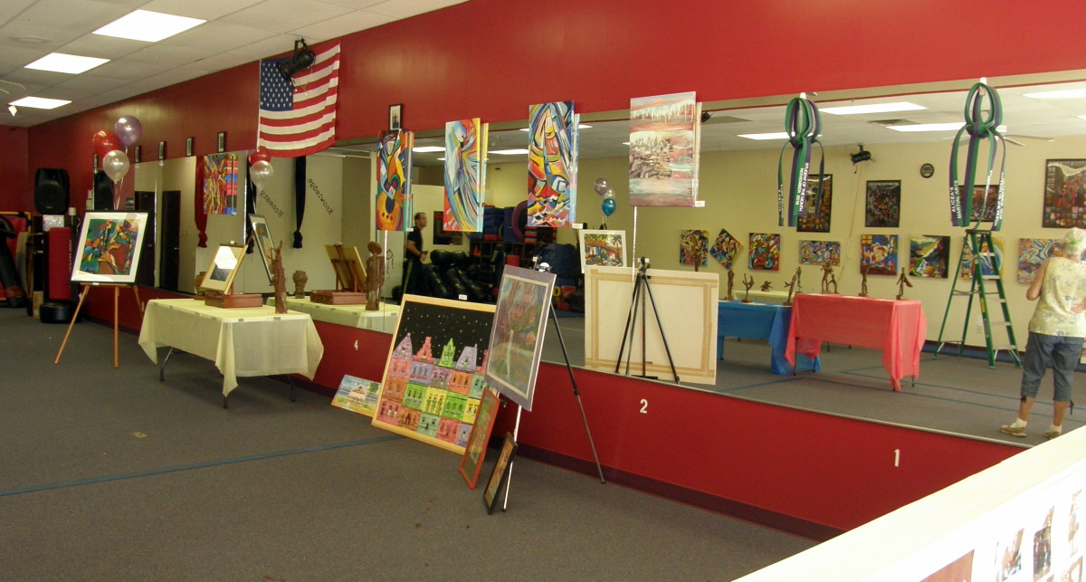 Another view of the exhibit area