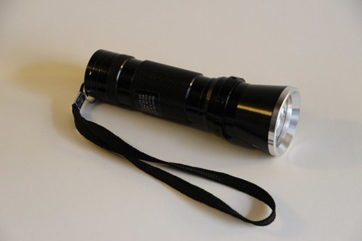 A flashlight is a good bargain at the Dollar Store