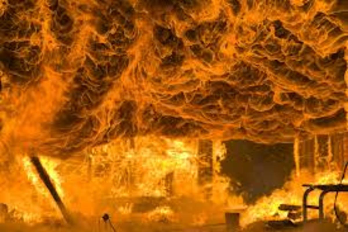 This is flashover.  Welcome to Hell!