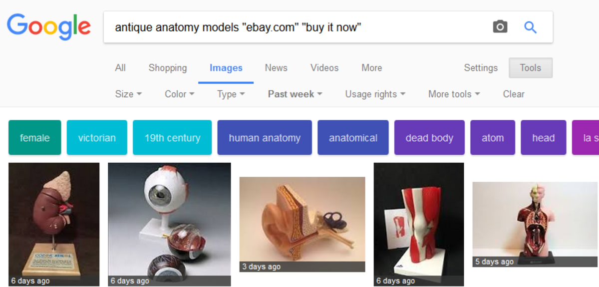Use Google image search to find things faster.