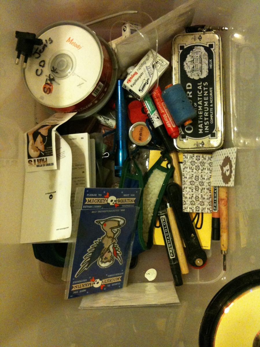 A junk drawer lot may contain hidden treasures.