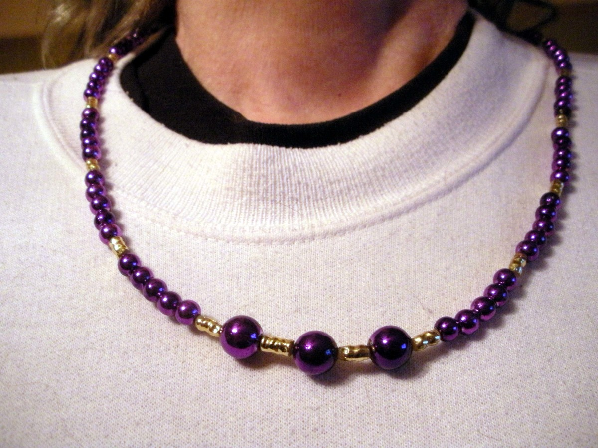 Using a model can work well for jewelry..though I didn't put this one on the site; I'm not a 'selfie' taker..this is poor quality
