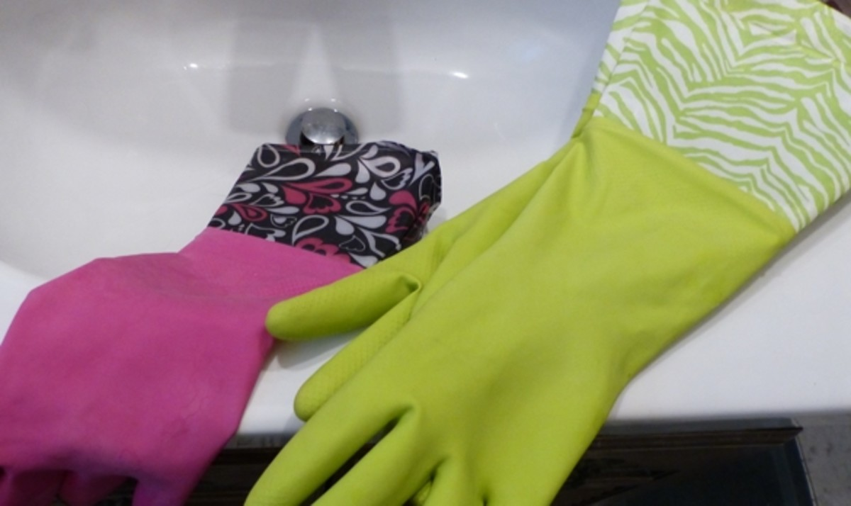 Treasures from the Dollar Store. Love these colorful and practical gloves...one for each chore!